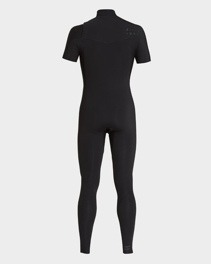 2 202 Furnace Revolution Short Sleeve Chest Zip Full Suit Black 9795620 Billabong