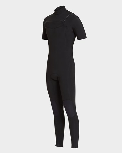 0 202 Furnace Revolution Short Sleeve Chest Zip Full Suit Black 9795620 Billabong
