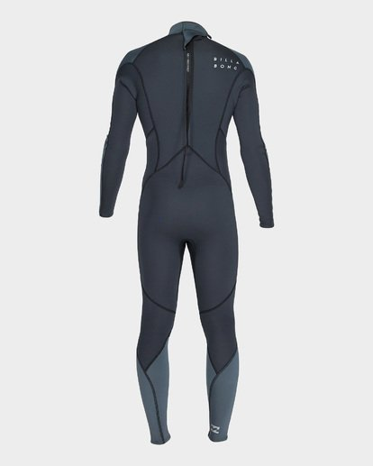 2 302 FURNACE ABSOLUTE BACK ZIP FLATLOCK FULLSUIT Grey 9795700 Billabong