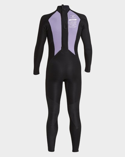 7 302 Absolute Flat Lock Back Zip Full Suit Grey 9795700 Billabong