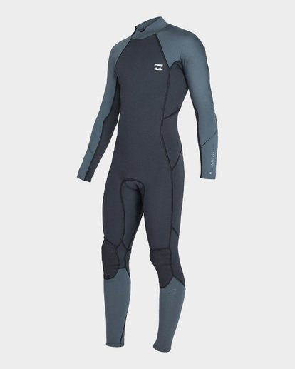 0 302 FURNACE ABSOLUTE BACK ZIP FLATLOCK FULLSUIT Grey 9795700 Billabong