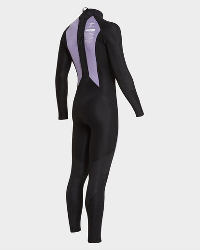 6 302 FURNACE ABSOLUTE BACK ZIP FLATLOCK FULLSUIT Grey 9795700 Billabong