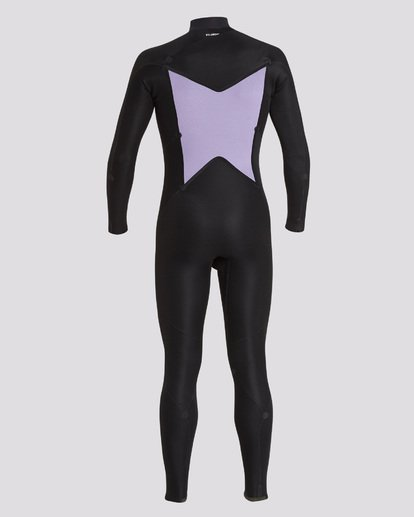 6 302 Furnace Absolute Chest Zip Full Suit Black 9795818 Billabong