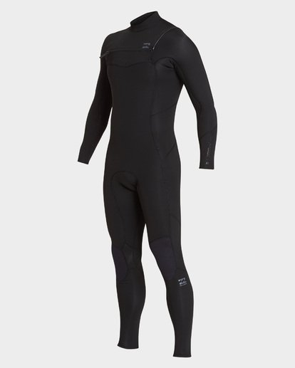 0 302 Furnace Absolute Chest Zip Full Suit Black 9795818 Billabong