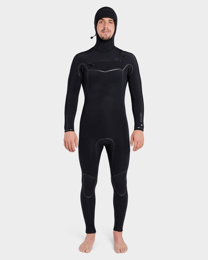 1 Furnace Carbon 504 Chest Zip Full Suit Black 9795896 Billabong