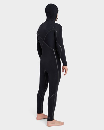 3 Furnace Carbon 504 Chest Zip Full Suit Black 9795896 Billabong