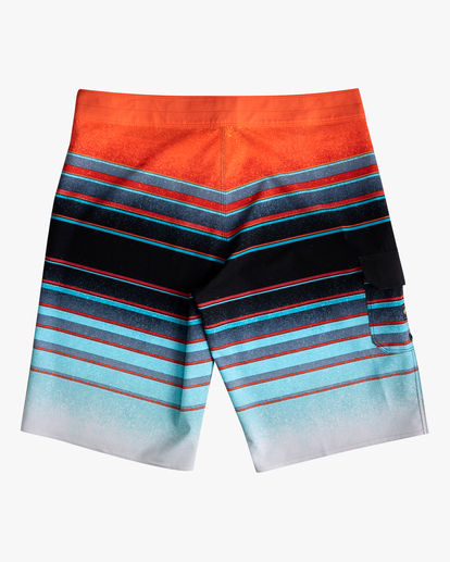 "1 Boys' All Day Stripe Pro Boardshorts 18"" Blue ABBBS00105 Billabong"