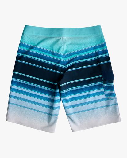 "1 Boys' All Day Stripe Pro Boardshorts 18"" Blue ABBBS00105 Billabong"