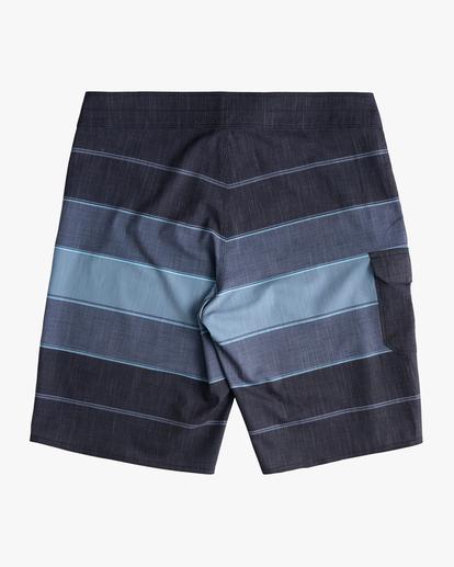 "1 Boys' All Day Heather Stripe Pro Boardshorts 18"" Black ABBBS00106 Billabong"