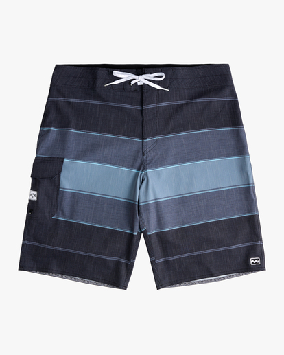 "0 Boys' All Day Heather Stripe Pro Boardshorts 18"" Black ABBBS00106 Billabong"