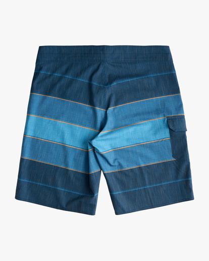 "1 Boys' All Day Heather Stripe Pro Boardshorts 18"" Blue ABBBS00106 Billabong"