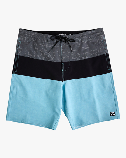 "0 Boys' Tribong Lo Tide Boardshorts 19"" Blue ABBBS00107 Billabong"