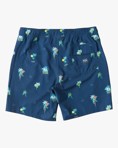 "1 Boys' Sundays Layback Boardshorts 16"" Blue ABBBS00110 Billabong"