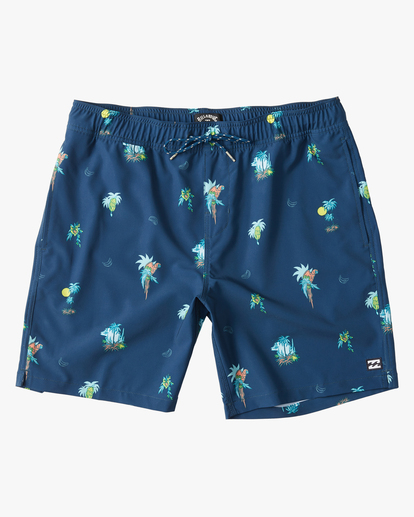 "0 Boys' Sundays Layback Boardshorts 16"" Blue ABBBS00110 Billabong"