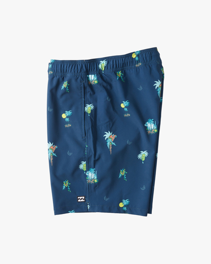 "2 Boys' Sundays Layback Boardshorts 16"" Blue ABBBS00110 Billabong"