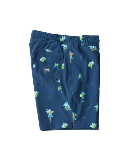 "3 Boys' Sundays Layback Boardshorts 16"" Blue ABBBS00110 Billabong"
