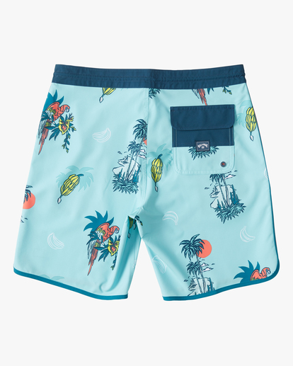 "1 Boys' 73 Lo Tide Boardshort 18"" Blue ABBBS00124 Billabong"