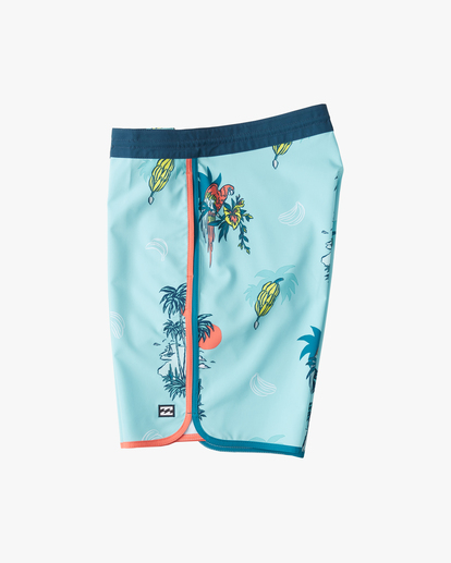 "2 Boys' 73 Lo Tide Boardshort 18"" Blue ABBBS00124 Billabong"