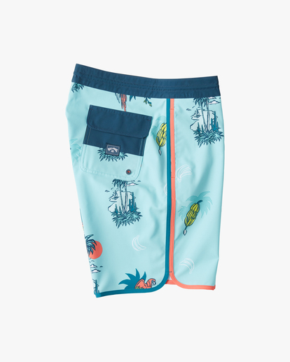 "3 Boys' 73 Lo Tide Boardshort 18"" Blue ABBBS00124 Billabong"