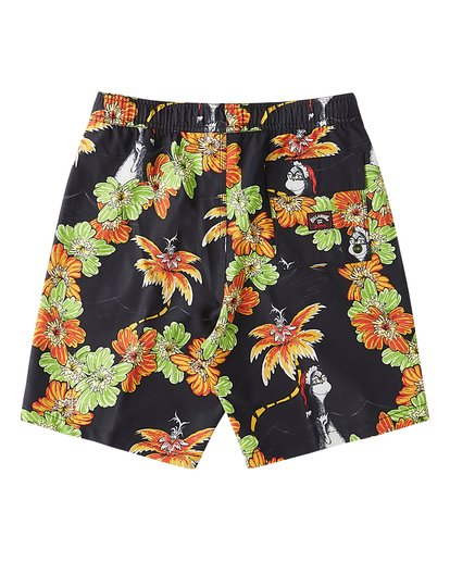 1 Boys' Grinch Aloha Layback Boardshort Black ABBBS00127 Billabong