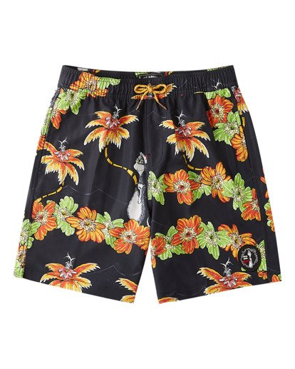 0 Boys' Grinch Aloha Layback Boardshort Black ABBBS00127 Billabong
