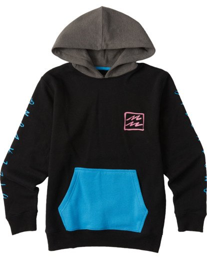 0 Boys' United Pullover Hoodie Black ABBFT00101 Billabong