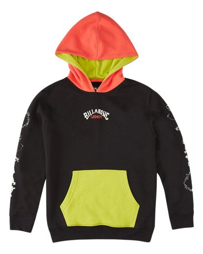 0 Boys' Grinchmas Vacation Pullover Hoodie Black ABBFT00107 Billabong