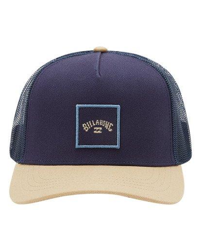 1 Boys' Stacked Trucker Hat Blue ABBHA00117 Billabong