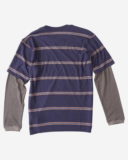 1 Boys' Die Cut Twofer Long Sleeve T-Shirt Blue ABBKT00104 Billabong