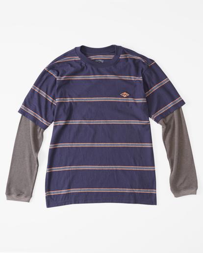0 Boys' Die Cut Twofer Long Sleeve T-Shirt Blue ABBKT00104 Billabong