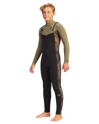 0 Boys' 4/3 Revolution Full Wetsuit  ABBW100104 Billabong