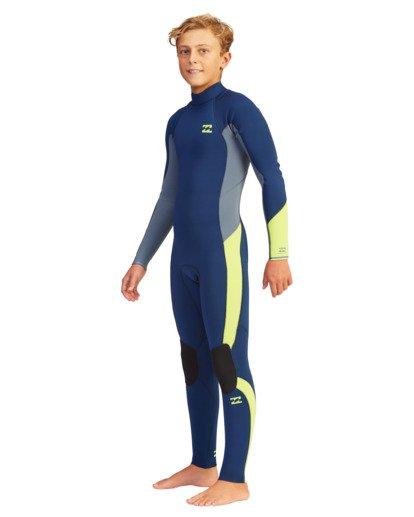 0 Boys' 4/3 Absolute Back Zip Full Wetsuit  ABBW100110 Billabong