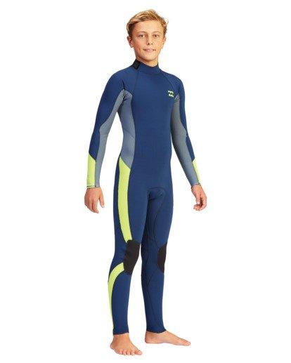 5 Boys' 4/3 Absolute Back Zip Full Wetsuit  ABBW100110 Billabong