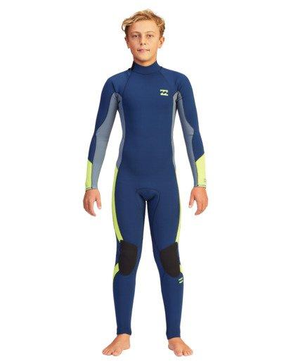 2 Boys' 3/2 Absolute Back Zip Full Wetsuit  ABBW100116 Billabong