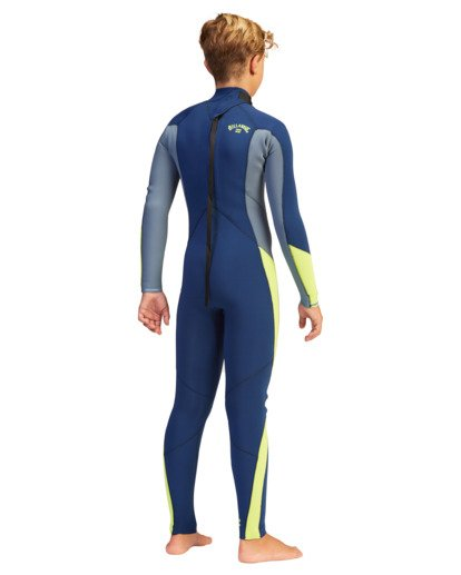 4 Boys' 3/2 Absolute Back Zip Full Wetsuit  ABBW100116 Billabong