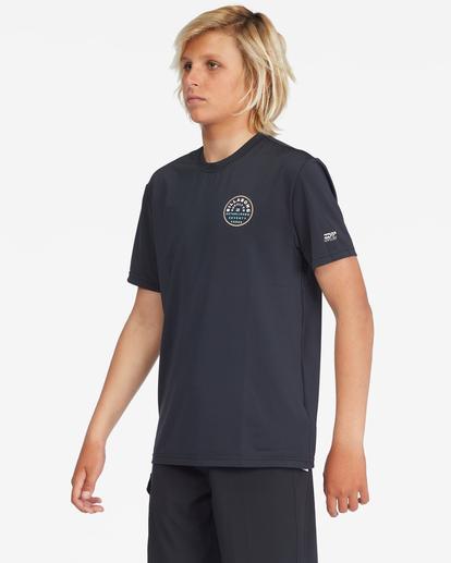 0 Boys' Roto Loose Fit Short Sleeve Rashguard Black ABBWR00103 Billabong