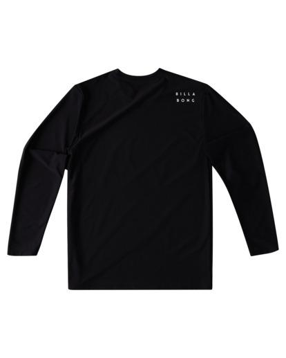 1 Boys' All Day Wave Loose Fit Long Sleeve Rashguard Black ABBWR00105 Billabong