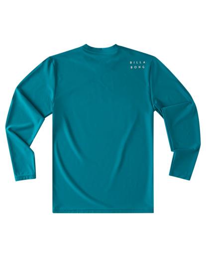 1 Boys' All Day Wave Loose Fit Long Sleeve Rashguard Blue ABBWR00105 Billabong