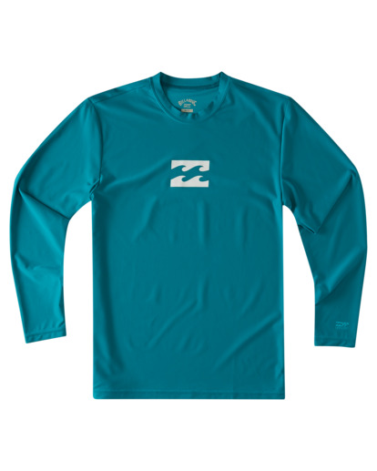 0 Boys' All Day Wave Loose Fit Long Sleeve Rashguard Blue ABBWR00105 Billabong