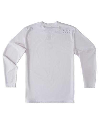 4 Boys' All Day Wave Loose Fit Long Sleeve Rashguard White ABBWR00105 Billabong