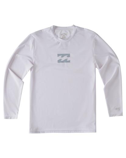 3 Boys' All Day Wave Loose Fit Long Sleeve Rashguard White ABBWR00105 Billabong