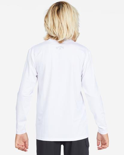 2 Boys' All Day Wave Loose Fit Long Sleeve Rashguard White ABBWR00105 Billabong