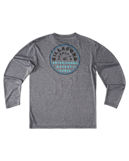1 Boys' Roto Loose Fit Long Sleeve Rashguard Grey ABBWR00106 Billabong