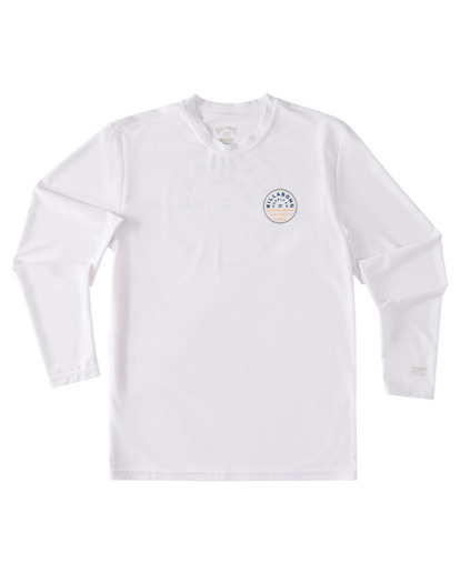0 Boys' Roto Loose Fit Long Sleeve Rashguard White ABBWR00106 Billabong