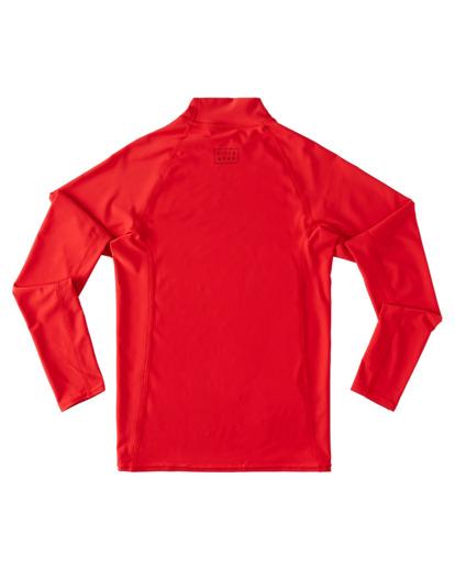 1 Boys 8-16 All Day Wave Performance Fit Rash Vest Red ABBWR00108 Billabong