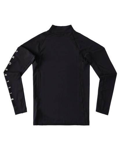 1 Boys' Unity Performance Fit Long Sleeve Rashguard Black ABBWR00109 Billabong