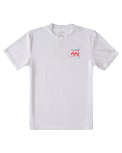 0 Boys' Crayon Wave Loose Fit Short Sleeve Rashguard White ABBWR00111 Billabong