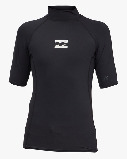 0 Boys' All Day Wave Performance Fit Short Sleeve Rashguard Black ABBWR00113 Billabong