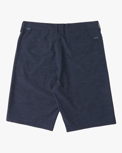 1 Boys' Crossfire Slub Shorts Blue ABBWS00101 Billabong