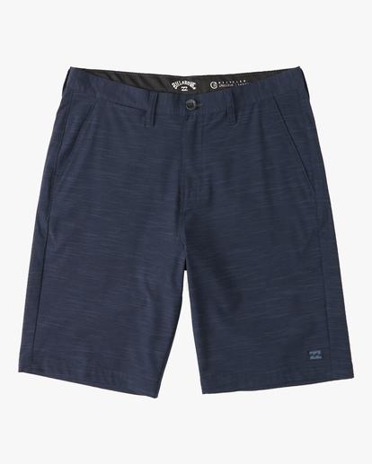 0 Boys' Crossfire Slub Shorts Blue ABBWS00101 Billabong
